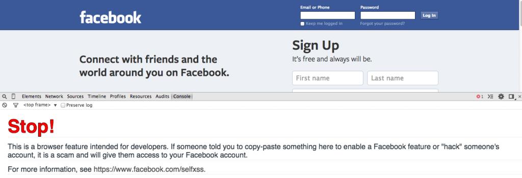 facebook-console
