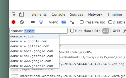 chrome-network-filter-domain